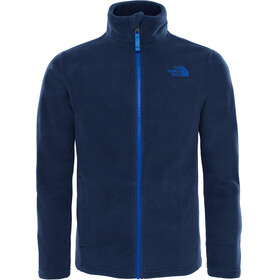 The North Face Snow Quest Full Zip Roundneck Jacket Youths Cosmic Blue/Turkish Sea